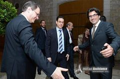 Mr.Aoude & Mr. Ishac welcoming Minister...